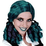 Ashley Ringlets Wig - Aqua & Purple