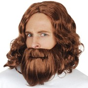 Jesus Wig & Beard Brown