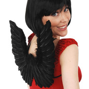 Small Black Feather Dark Angel Wings