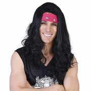 Ritchie Long Black Wig with Headband