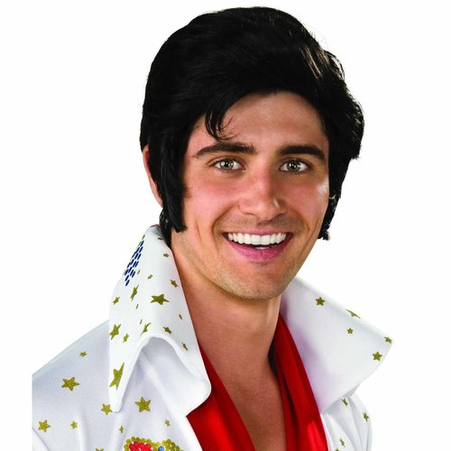 Elvis Licensed Wig with Sideburns- Adult