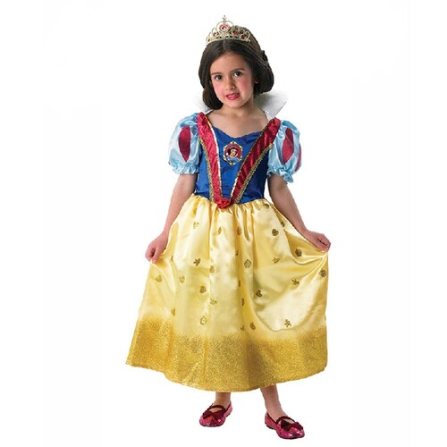 Glitter Snow White Costume - Girls - Medium Size