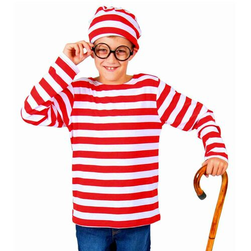 Where's Waldo Costume - Child - Large