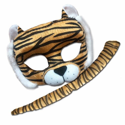 Deluxe Animal Mask & Tail Set - Tiger