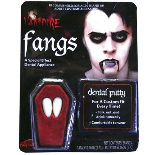 Vampire Teeth in Coffin
