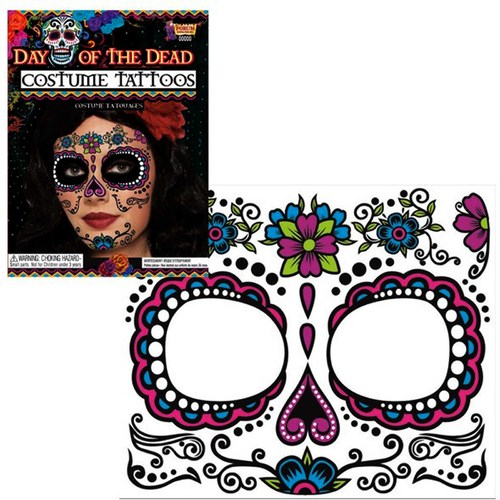 Day of the Dead Face Tattoo Pink
