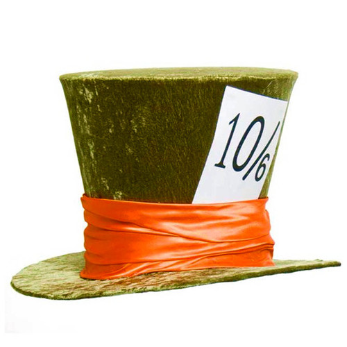 Deluxe Mad Hatter Hat - Green