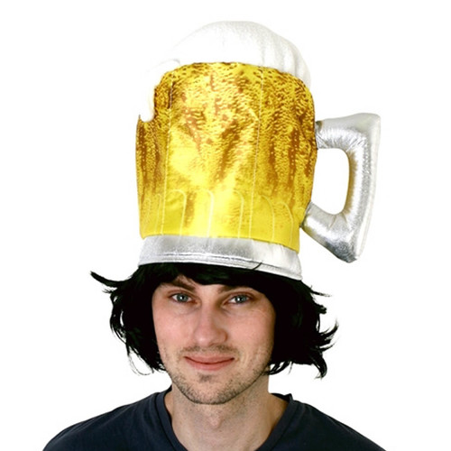 Plush Beer Glass Hat