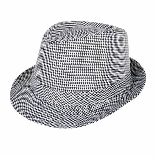 a5eb09721 Trilby Hat - Black & White Houndstooth Check